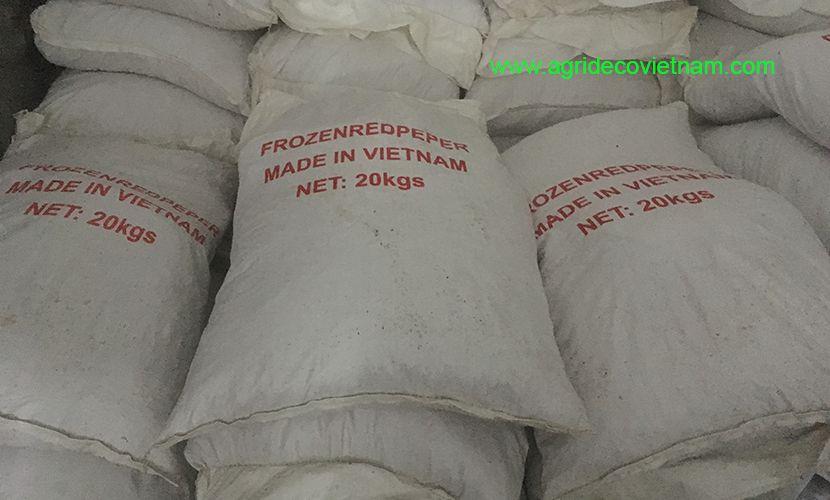 Frozen chilli: Loading for export